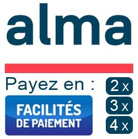 Paiement Alma 2x, 3x & 4x sans frais !